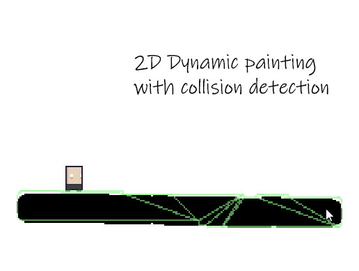 2D Dynamic painting with collision detection