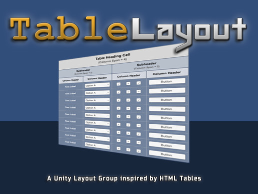 Tablelayout Advanced Layout Group For Unityui Asset Store
