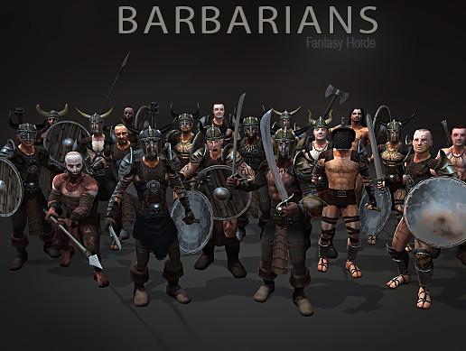 پکیج یونیتی Fantasy Horde - Barbarians