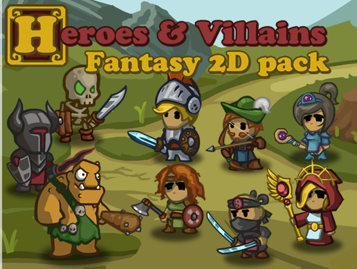 Heroes and Villains - Fantasy 2D pack