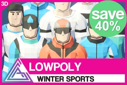 LOWPOLY - Winter Sports
