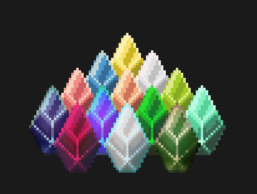 2D Pixel Jewel gems