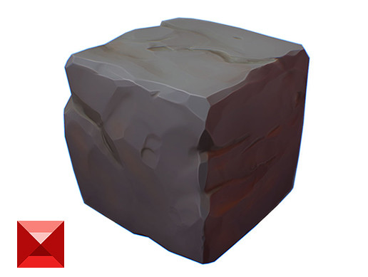 Rock Block - PBR Handpainted Series