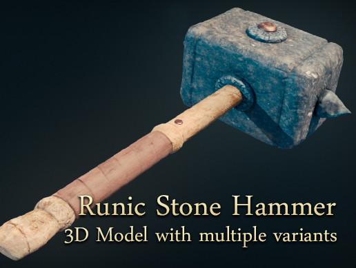 Runic Stone Hammer