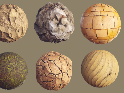 Stylized Desert Materials
