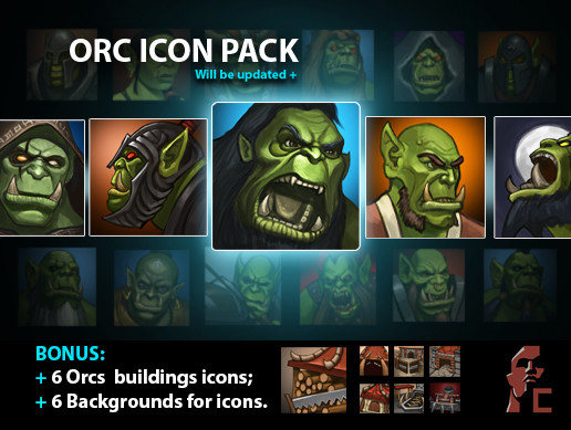 Race Icons Pack: Orc