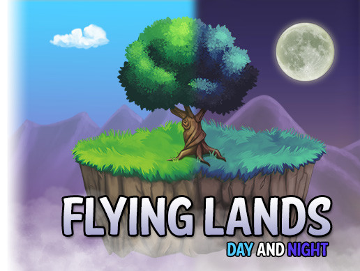 2D Flying Lands Day and Night Kit