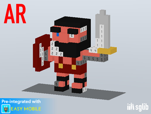 [AR] Voxel Paint - Color By Number AR Template
