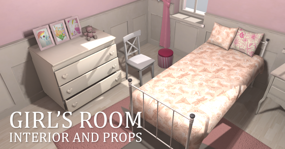 Girl's room - interior and props