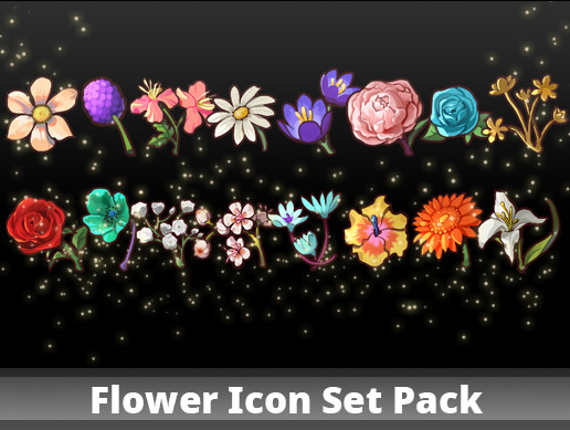Flower Icon Set Pack