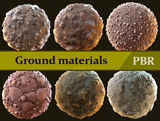 """Ground materials"" 13 PBR Materials"