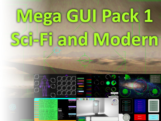 Mega GUI Pack 1 - Sci-Fi and Modern