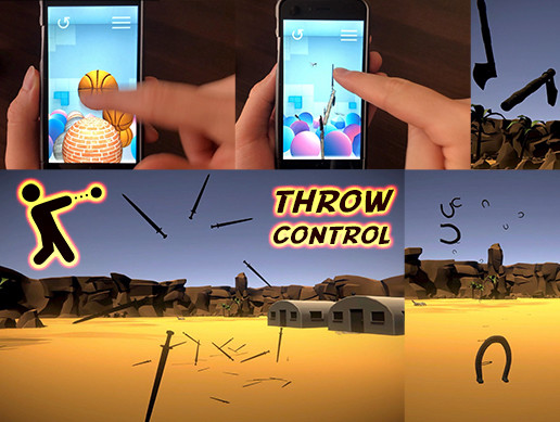 Throw Object 3D: Mobile, Desktop, FPS — Throw Ball, Throw Weapon