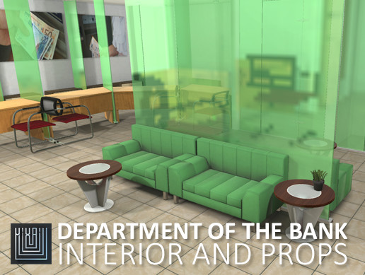 Department of the bank - interior and props