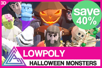 LOWPOLY - Halloween Monsters