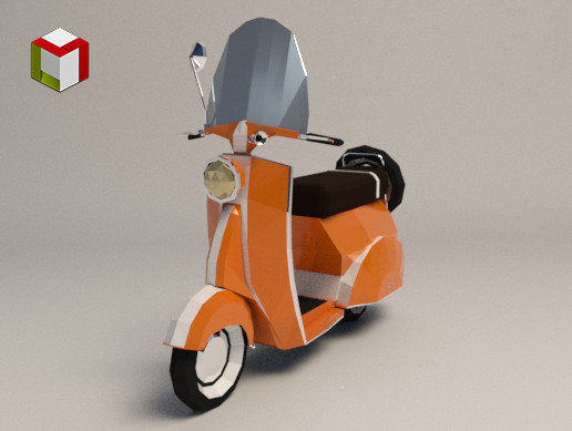 Low Poly Scooter 02