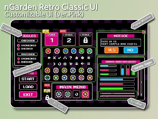 nGarden Retro Classic UI (Pink)