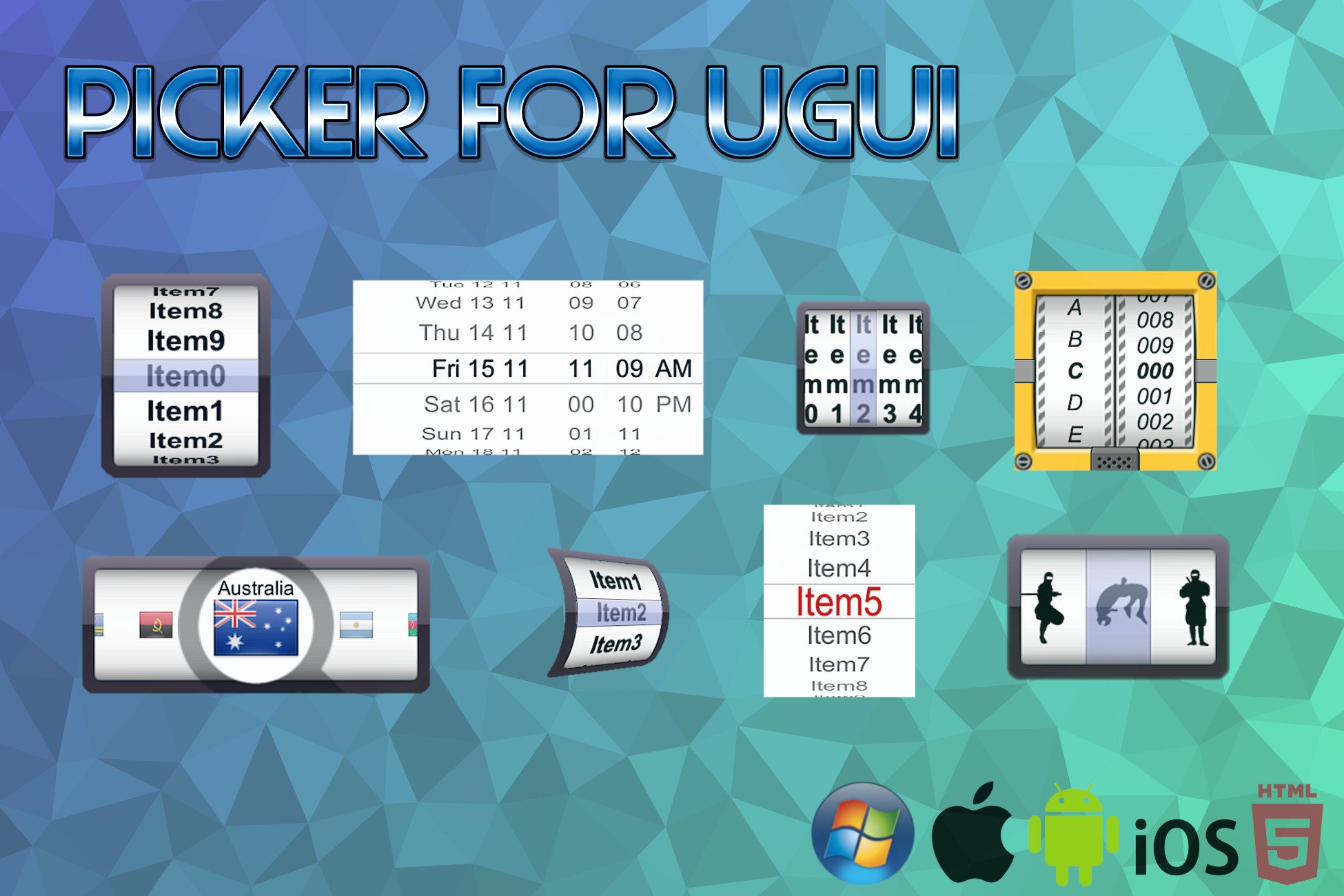 Picker for uGUI