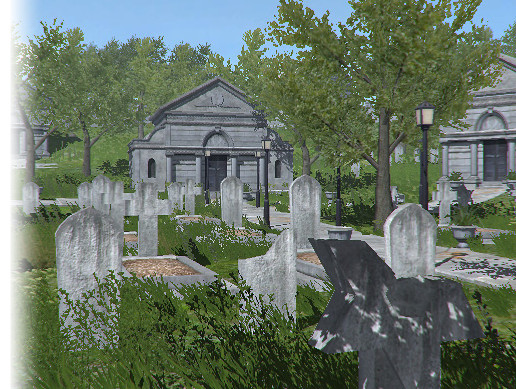 Low Poly Cemetery Pack