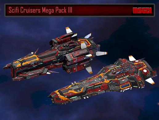 Scifi Cruisers Mega Pack III