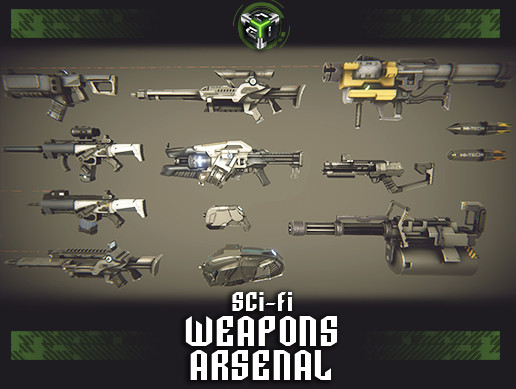 Sci-fi Weapons Arsenal