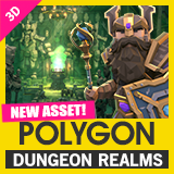 POLYGON Dungeon Realms - Low Poly 3D Art by Synty