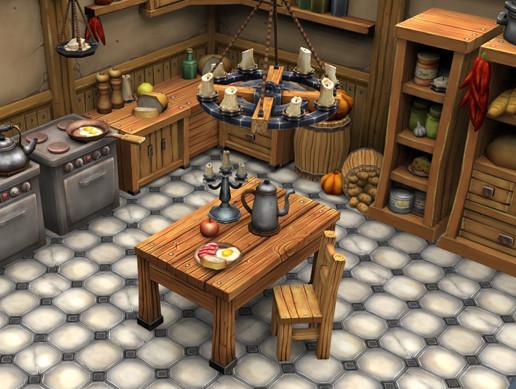 Stylized Kitchen Environment