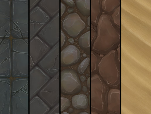 Pack 9 Tileable Hand Painted Textures