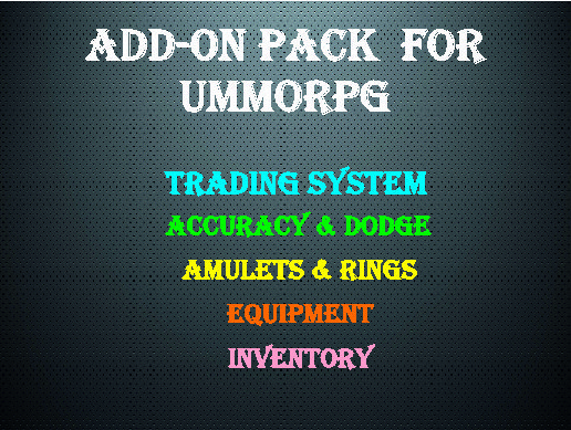 Add-ons for uMMORPG - Asset Store