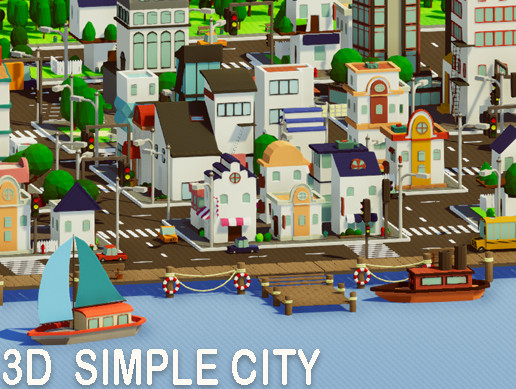 Cartoon City - Low Poly Assets