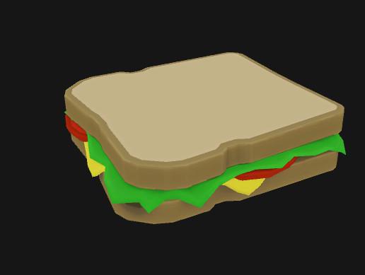 Stylized Cartoony Sandwich