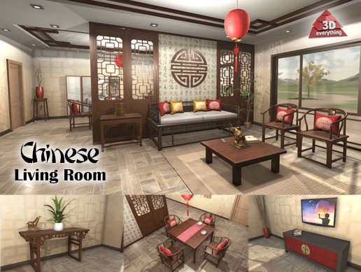 Chinese Living Room - Asset Store
