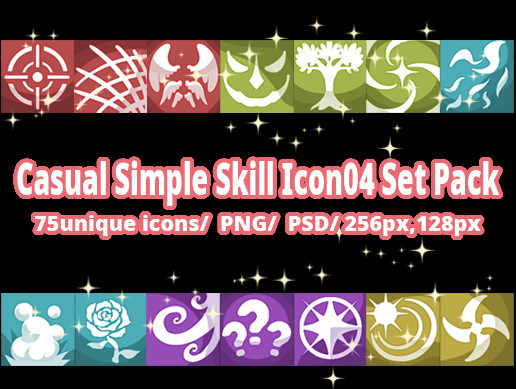 Casual Simple Skill Icon04 Set Pack
