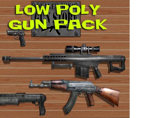Low Poly Gun Pack - Asset Store