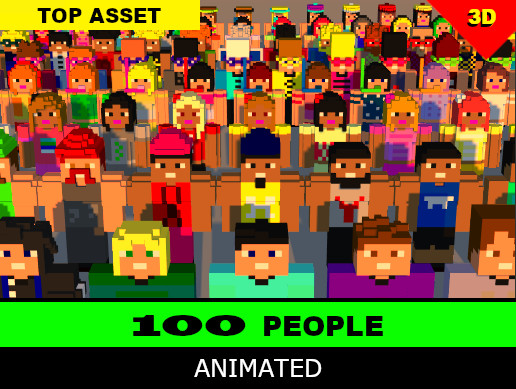 100 People - Animated Characters Pack