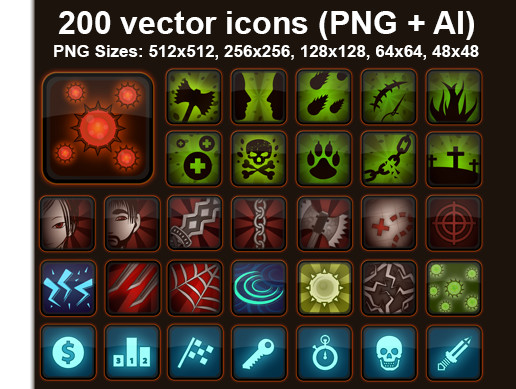 RPG Skills Icons pack