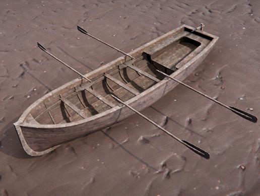 Wood Row Boat