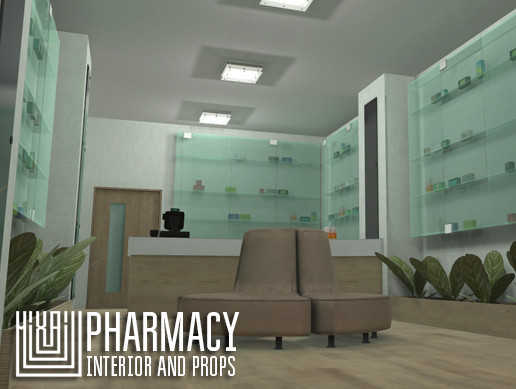 Pharmacy - interior and props