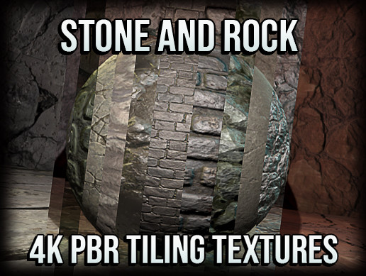 21 Stone and Rock 4K PBR Tiling Textures Collection