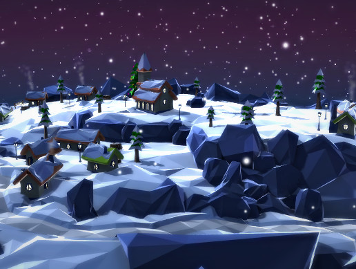 FlatPoly: Winter Village