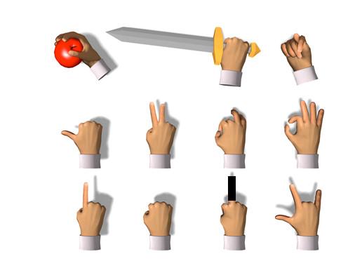 Cartoon Hands - animated