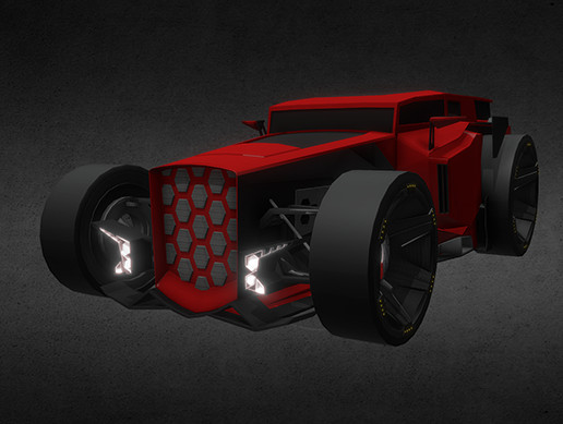 Race game car, Hot Rod Carbon