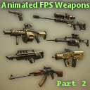 Animated FPS Weapons Pack (Part 2)