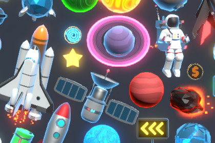 Space Theme Items and Props Pack