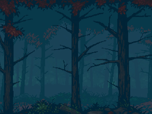 Mystery Forest Parallax Background