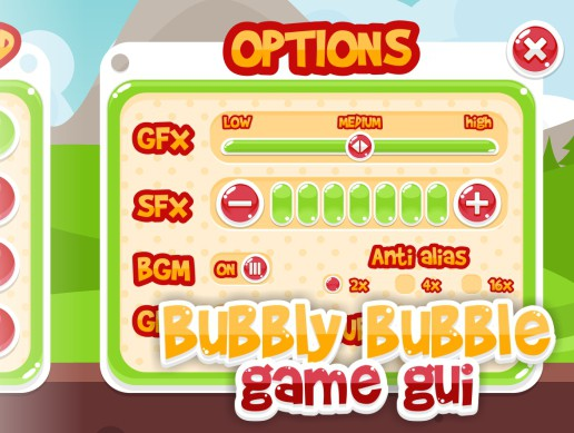 Bubbly Bubble - Game GUI