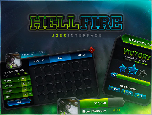 Hellfire GUI — THE CURSED INTERFACE