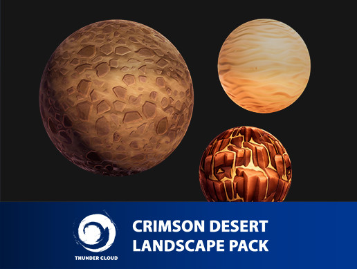 Crimson Desert Landscape GroundTile Materials pack
