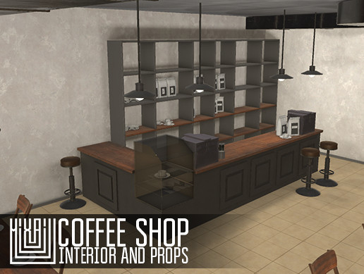 Coffee shop - interior and props