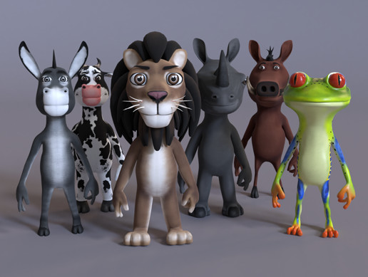 Toon Humanoid Animals Vol 1 PBR